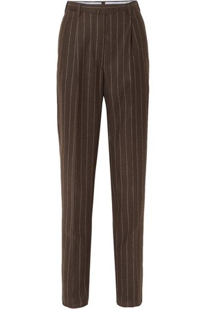 Giuliva Heritage Collection   Cornelia pinstriped wool tapered pants   NET-A-PORTER.COM