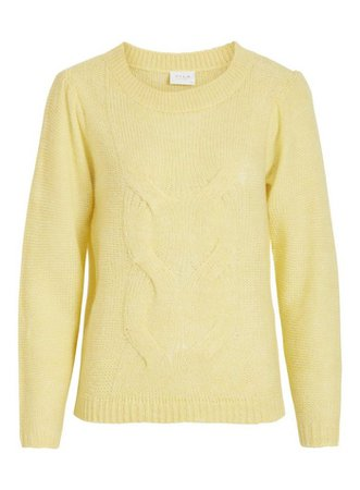 **Vila Yellow Mid Gauge 'Aran' Jumper | Dorothy Perkins