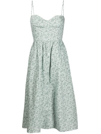 Reformation Cale floral-print Midi Dress - Farfetch