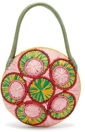 Sophie Anderson Woven Raffia Bag - Womens - Green Multi
