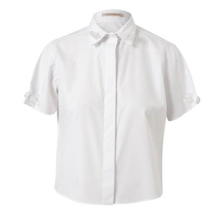 CHRISTOPHER KANE Cropped Cotton-Blend Shirt