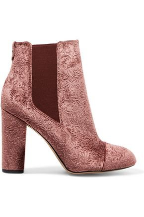 Case embossed velvet ankle boots | SAM EDELMAN | Sale up to 70% off | THE OUTNET