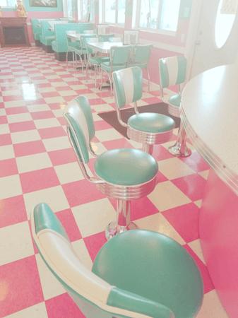vintage pink diner