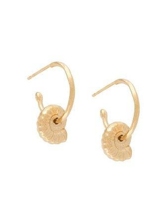 Natalie Perry Ammonite Shell Charm Earrings - Farfetch