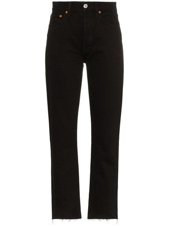 RE/DONE high-rise pipe jeans AW20 | Farfetch.com