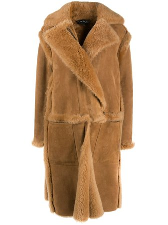 Tom Ford, single-breasted Shearling Coat