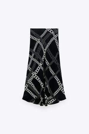 CHAIN PRINT SKIRT | ZARA United States