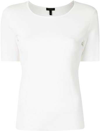Fitted Round-Neck Top