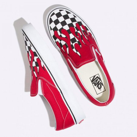 Checker Flame Slip-On :