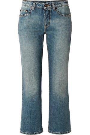 Saint Laurent | Cropped mid-rise flared jeans | NET-A-PORTER.COM