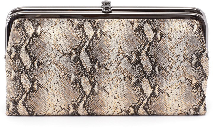 'Lauren' Leather Double Frame Clutch