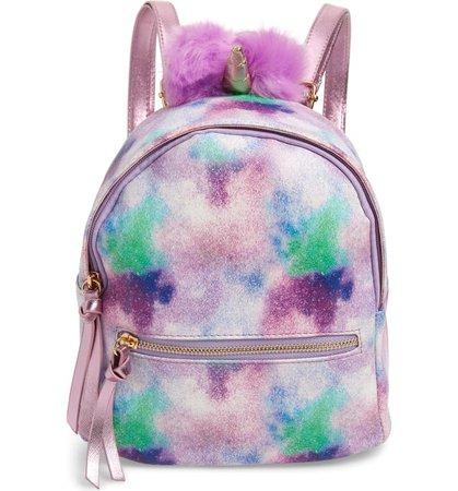 Under One Sky Mini Faux Fur Pompom Unicorn Backpack (Kids)   Nordstrom