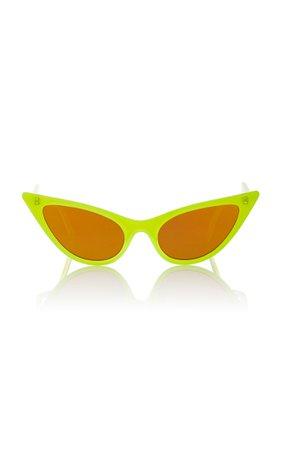 Adam Selman X Le Specs The Prowler Acetate Cat-Eye Sunglasses