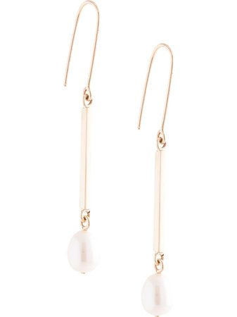 Shop gold Meadowlark 9kt yellow gold Roma pearl drop earrings with Express Delivery - Farfetch