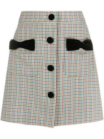 Black Miu Miu houndstooth mini skirt - Farfetch