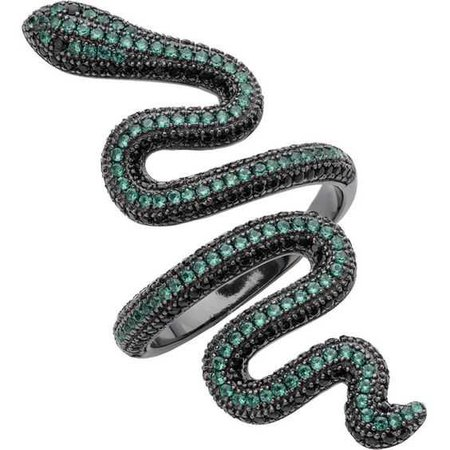 GREEN SNAKE RING (3.435 RUB) ❤ liked on Polyvore featuring jewelry, rings, green jewelry, green jewellery, snake jewelry, green ring and snake ring