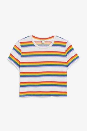 Cropped tee - Rainbow - Tops - Monki WW