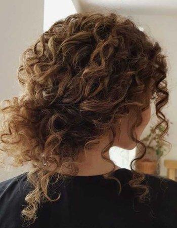curly casual bun