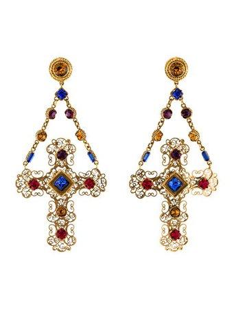 Dolce & Gabbana Crystal Gemme Chandelier Earrings - Earrings - DAG119384 | The RealReal