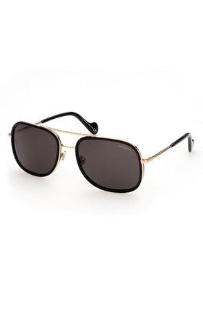 Moncler 61mm Polarized Aviator Sunglasses | Nordstrom