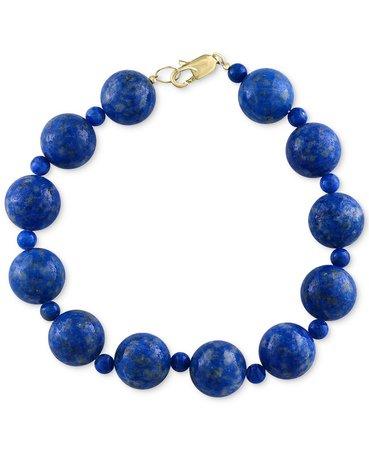 EFFY® 14k Gold Lapis Lazuli Beaded Bracelet