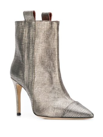 Bams metallic-effect Ankle Boots - Farfetch
