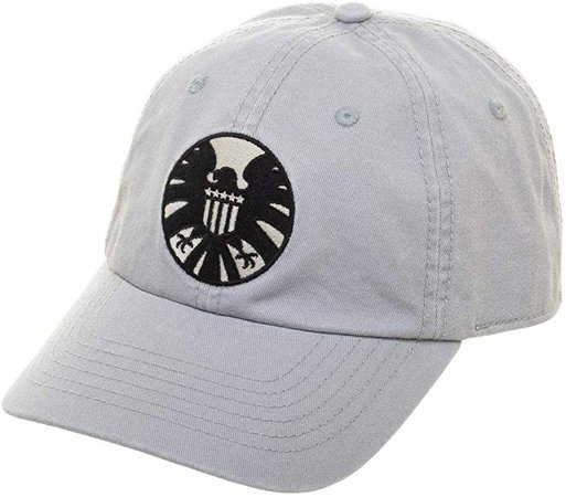 Amazon.com: Mens Marvel Snapback Hat White Cateonic Agents of Shield Hat Marvel Dad Hat: Clothing