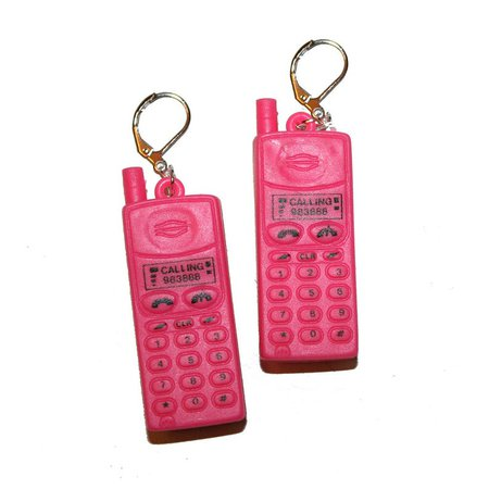 Vintage Inspired 90's Cell Phone Earrings kitschy   Etsy