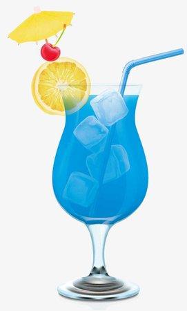 Cartoon Beach Blue Iced Drink Png, Blue Drink, Iced Drink, Goblet Drink PNG and Vector for Free Download
