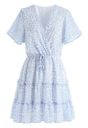Enchanted Floret Ruffle Wrap Chiffon Dress - NEW ARRIVALS - Retro, Indie and Unique Fashion