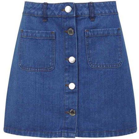 Miss Selfridge Mid Wash Denim Mini Skirt