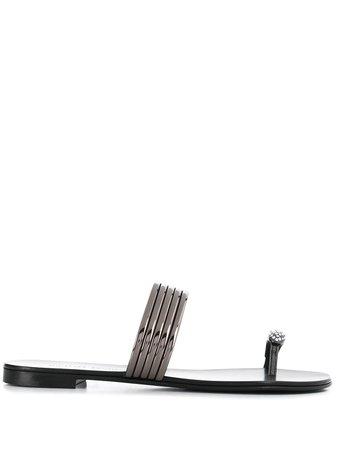Giuseppe Zanotti Metallic Sandals - Farfetch