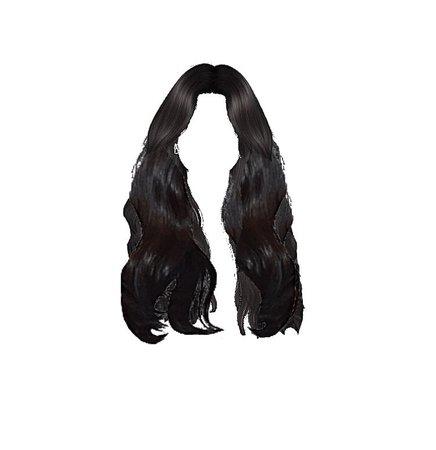 black hair edit png