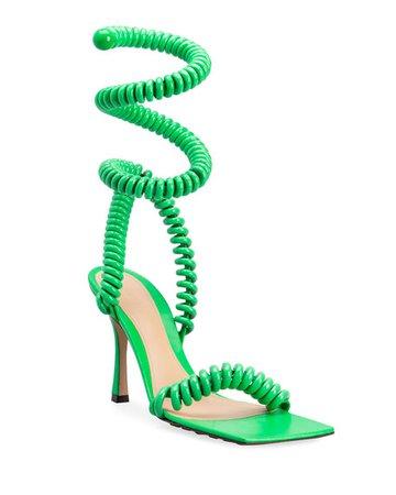 Bottega Veneta Wire Stretch Sandals   Neiman Marcus