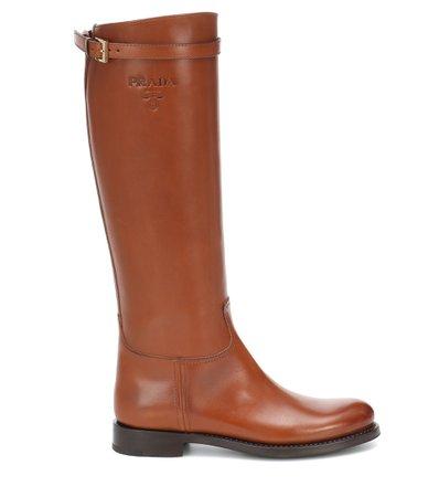 Prada, Leather Knee-High Boots