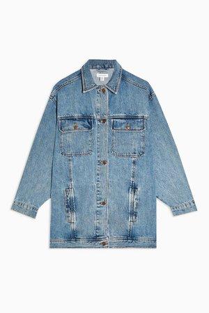 Vintage Wash Super Oversized Denim Jacket | Topshop