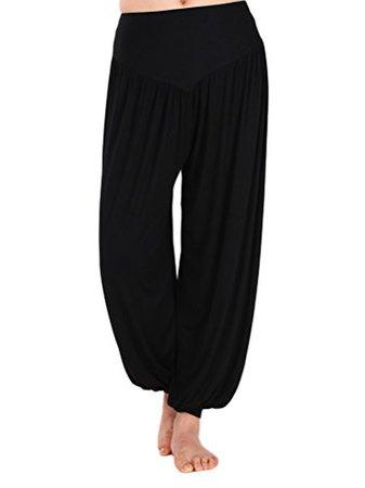 AvaCostume-Womens-Modal-Cotton-Soft-Yoga-Sports-Dance-Harem-Pants-XXXL-Black-0.jpg (374×500)