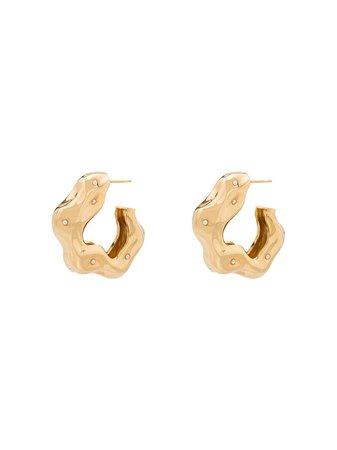 Joanna Laura Constantine Wave Hoop Earrings W57 Gold | Farfetch