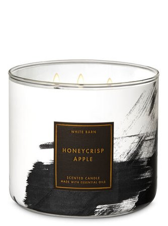 Honeycrisp Apple 3-Wick Candle - White Barn | Bath & Body Works