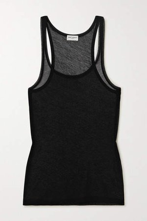 Cotton-jersey Tank - Black
