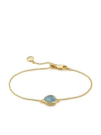 Monica Vinader 18kt gold vermeil Siren fine-chain bracelet - FARFETCH