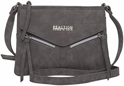 Amazon.com: Kenneth Cole Reaction KN1963 Columbus Mini Crossbody Messenger Purse Shoulder Bag (Grey): Shoes