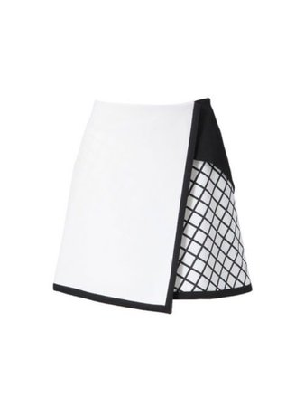 white and black net skirt