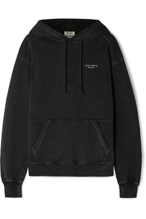 Acne Studios | Weny embroidered cotton-jersey hoodie | NET-A-PORTER.COM