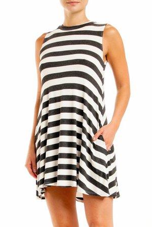 ELAN | Striped Sleeveless Dress | Nordstrom Rack
