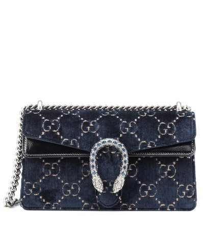 Dionysus Gg Small Velvet Shoulder Bag - Gucci | mytheresa.com