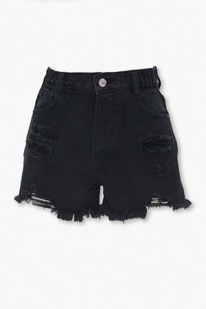 Distressed High-Rise Denim Shorts | Forever 21