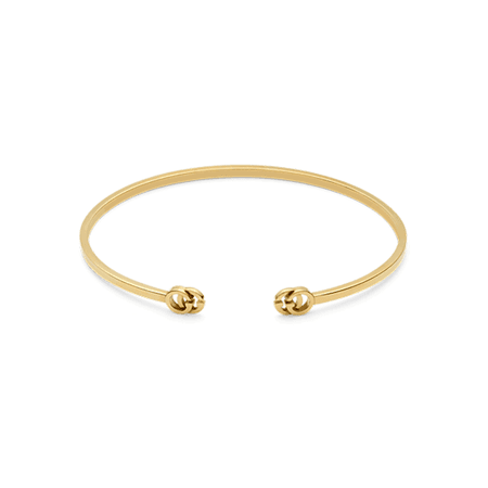 Gucci Running G 18ct Yellow Gold Cuff | Bracelets | Jewellery | Goldsmiths