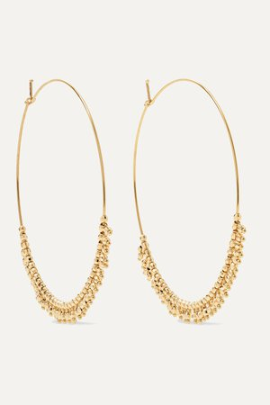 Gold 14-karat gold hoop earrings | Mizuki | NET-A-PORTER