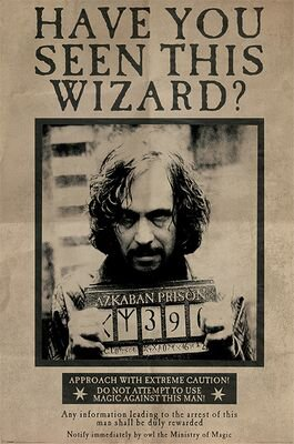 Harry Potter   Wanted Sirius Black   Harry Potter Poster   EMP